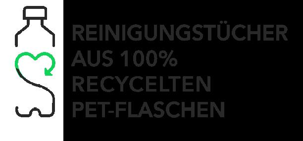 Reinigungstücher aus 100% recycelten PET-Flaschen